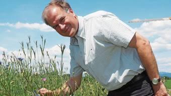 Markus Kasper will die Artenvielfalt im «Melerfeld» fördern.