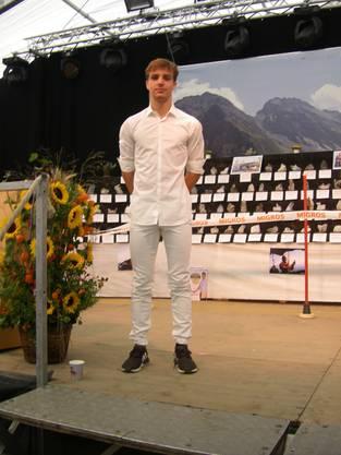 Tobias Hengartner, 6facher Sasionsieger und Teilnehmer am Eidgenösschen Jungschwingertag