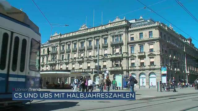 Halbjahreszahlen von UBS, CS, Swiss Re und der Nationalbank