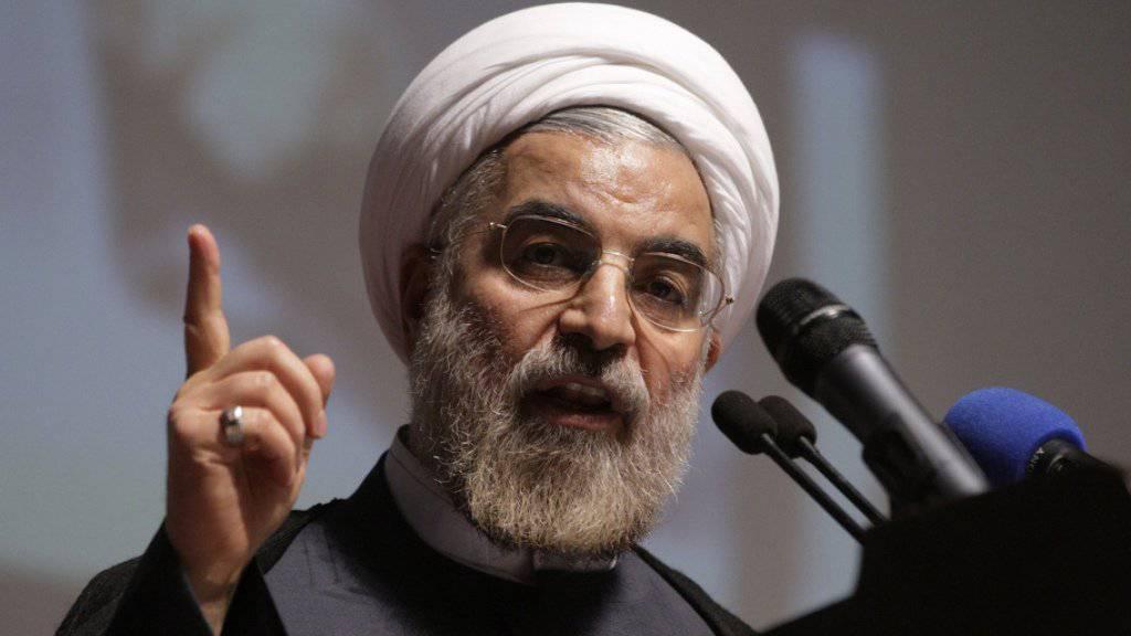 Verspricht freie Wahlen: Irans Präsident Hassan Ruhani