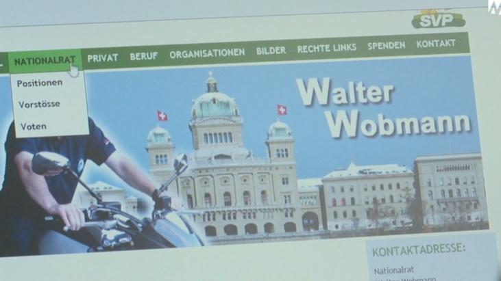 Walter Wobmanns Webseite erhält die Note 5,4.