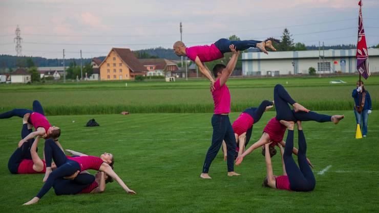 Gymnastik Kleinfeld Darbietung TV Oberbuchsiten