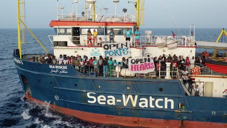 Die Sea-Watch 3 mitte Juni auf hoher See.