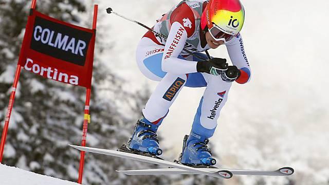 Dominique Gisin war beim Super-G in Cortina mit Bestzeit unterwegs