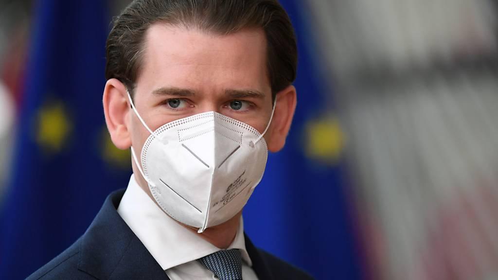 Der österreichische Kanzler Sebastian Kurz hat am Freitag in Brüssel gefordert, dass die EU-Chefs an einem ihrer nächsten Gipfeltreffen über die Schweiz diskutieren. (Archiv)