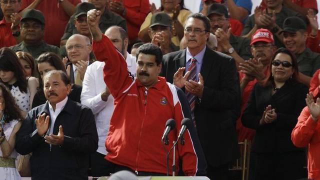Nicolas Maduro an der Solidaritätskundgebung für Chavez am Donnerstag (Archiv)
