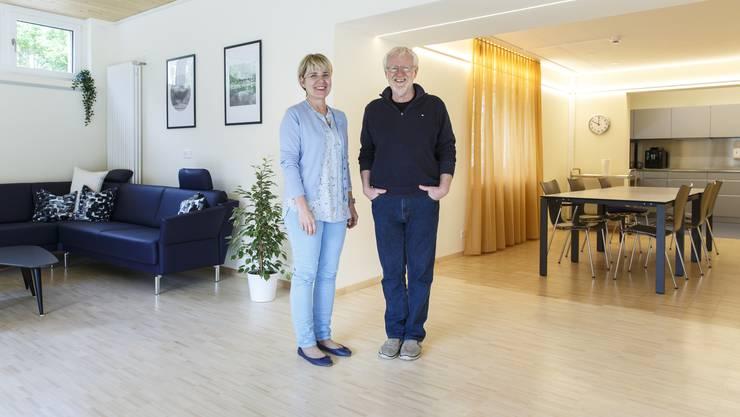 Institutionsleiterin ad interim Katja Rothenbühler und Martin Rubin, Leiter Wohnheim