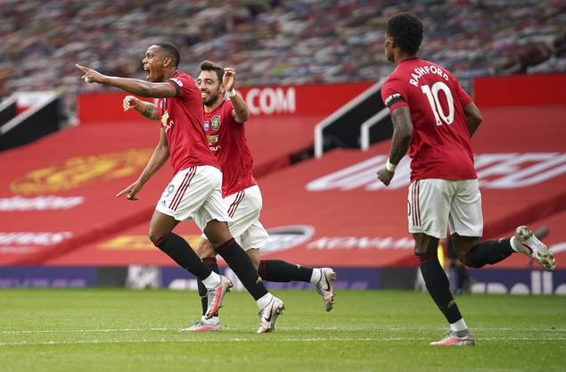 Sind die grossen Favoriten auf den Europa-League-Titel: Manchester United mit Anthony Martial (links).