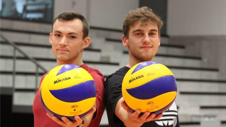 Scott Fifer (links) und Marcin Ernastowicz werden werden am 13. Oktober erstmals für Volley Schönenwerd auflaufen.