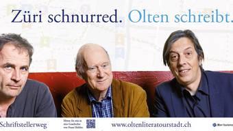 Mit solchen Plakaten wirbt Olten Tourismus in Zürich. Mit angepasstem Text auch in Bern und Luzern. zvg