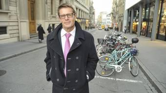 Gabriel Barell, Gewerbeverbanddirektor, in der Freien Strasse in Basel. (Archiv)