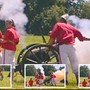 Der Moment der verhängnisvollen Explosion beim historischen Gefecht am Zofinger Kinderfest, eingefangen von einem Augenzeugen auf Video, daraus hat der Mann eine Bildercollage erstellt.