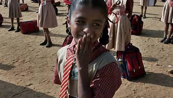 Schulmädchen in Indien (Symbolbild)