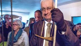 Zum 27. Mal läutet Franz Baur nach alter Tradition im Martinskirchturm die Herbstmesse ein und aus.