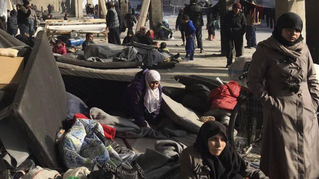 Aus dem Osten Aleppos vertrieben: Die UNO ist beunruhigt über Berichte von Gräueltaten in der umkämpften Stadt.