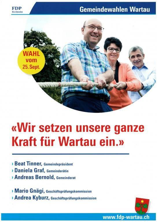 Hau-Ruck! Die FDP Wartau hat alles im Griff. (© FM1today)