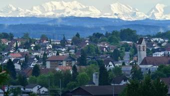 Blick auf die Gemeinde Kappel, welche eine nach Genehmigung des räumlichen Leitbilds eine neue Ortsplanung in Angriff nimmt.