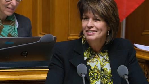 Doris Leuthard verabschiedet sich nach Klima-Debakel im Nationalrat