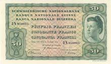 1938 wechselte die Frau ihre Position an den rechten Notenrand.