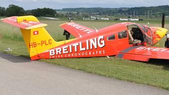 Motorflugzeug muss auf Flugplatz Grenchen notlanden