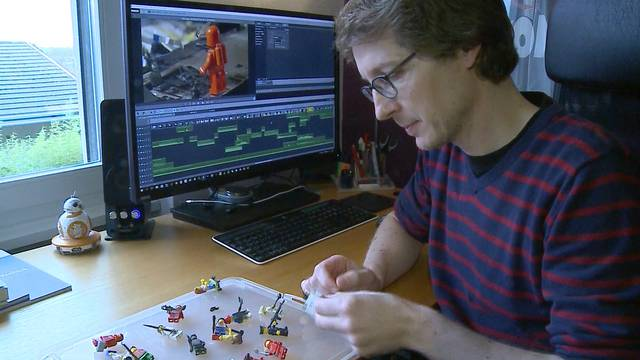 Stop-Motion-Videos aus dem Aargau: Dieser Mann steckt hinter der Invasion der Lego-Männchen.