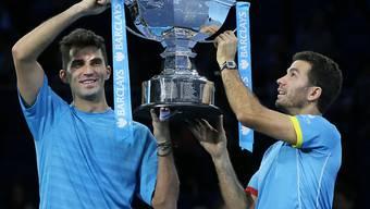 Vor zwei Jahren Sieger an den ATP-Finals, nun am US Open: Jean-Julien Rojer (re.) und Horia Tecau