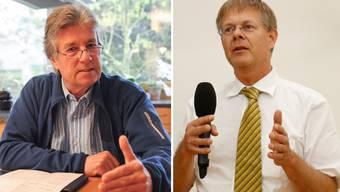 Finanzkommissionspräsident Marc Joset (l.) wehrt sich gegen die Vorwürfe von Gerhard Schafroth.