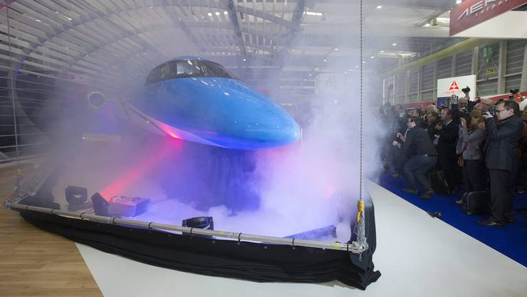 Der PC-24-Jet bei der Präsentation im Mai 2013.