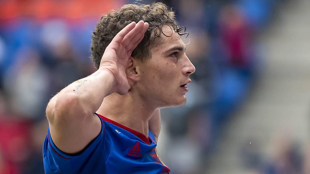 Sebastiano Esposito traf auch in seinem zweiten Meisterschaftsspiel für den FC Basel