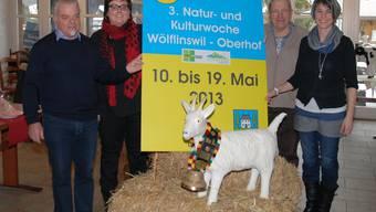 Das OK der Natur- und Kulturwoche: (v. l.) Kurt Aerni, Martina Schütz, Peter Bircher und Andrea Böller (es fehlt Renato Jehle). sh