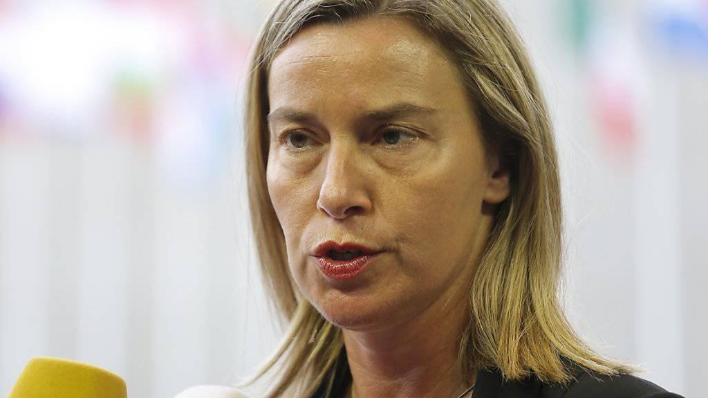 Die EU-Aussenbeauftragte Mogherini will die EU-Marinemission «Sophia» wieder ins Mittelmeer verlegen. (Archivbild)