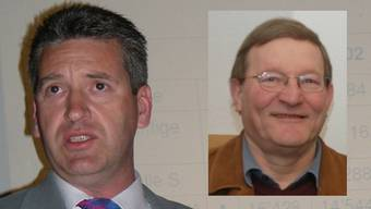 Gemeindeammann Anton Mösch (r.) tritt nicht mehr zu Wiederwahl an, Daniel Suter möchte seine Nachfolge antreten.