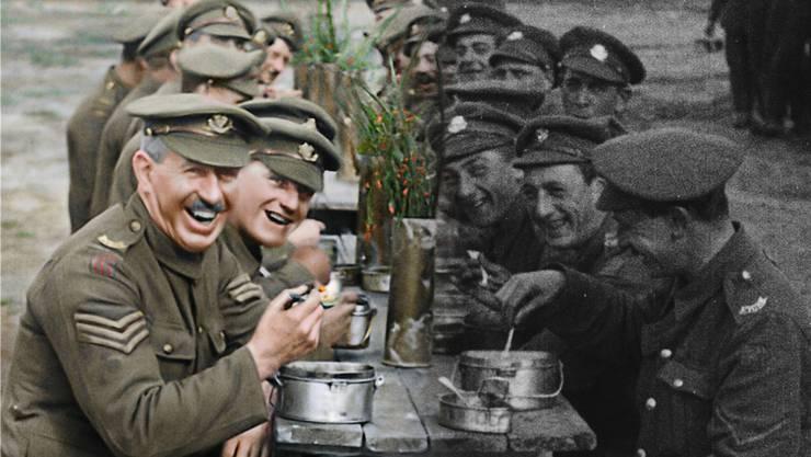 Die Realität des Krieges im Film – historische Bilder, die wie aktuelle wirken. «They Shall Not Grow Old» bewegt sich Richtung «Im Westen nichts Neues», bleibt aber dahinter zurück.Warner Bros. Pictures / © 2018 Imperial War Museum