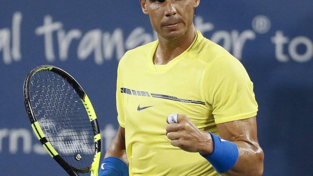 Rafael Nadal nimmt in Cincinnati die erste Hürde
