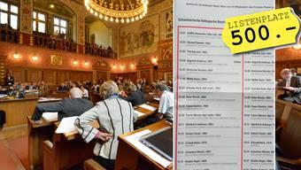 Für einen Listenplatz bei der SVP Basel-Stadt zahlen die Kandidierenden 500 Franken.