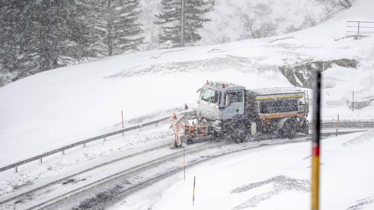 In weiten Teilen der Zentralschweizer Voralpen brachte ein Schneesturm ergiebige Schneemassen.