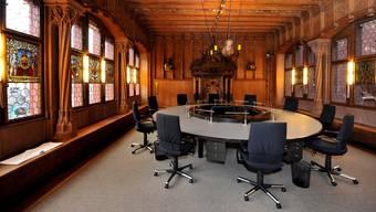 Wer wird zukünftig im Regierungsratssaal des Basler Rathauses sitzen? ey
