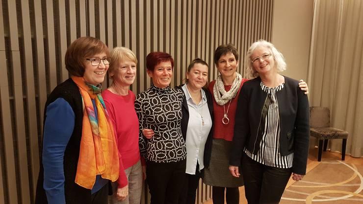 v.l.n.r. Erika Näf, Heidi Schär, Susi Widmer, Feli Monardo, Bernadette Studer, Lisbeth Morgenthaler