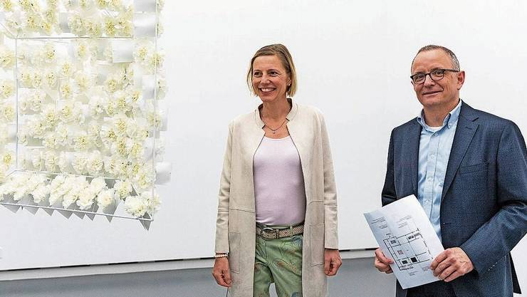Für einmal Konkurrenten: Suzanne Marclay und Hanspeter Hilfiker.
