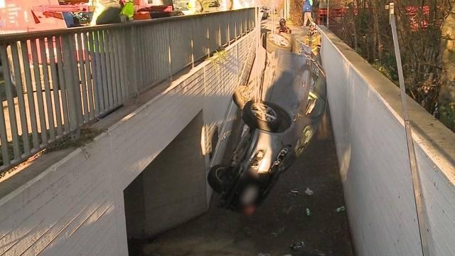 Skurriler Unfall in Lengnau