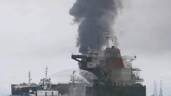 Die indonesische Marine vermutet, dass der zwölf Tonnen schwere Anker des Frachtschiffes eine Unterwasser-Pipeline zerstört hat. (Archivbild)