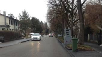 Diese Radaranlage steht derzeit am Riehener Grenzacherweg.