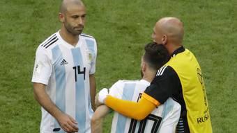 Javier Mascherano nimmt in der Nationalmannschaft Abschied von Kollege Lionel Messi