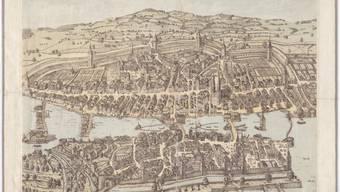 Der Murer-Plan stellt das spätmittelalterliche Zürich in einer detaillierten Ansicht von 1576 dar.
