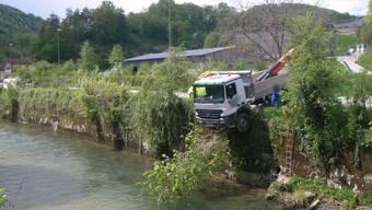 Der Lastwagen kam gerade noch rechtzeitig zum Stillstand.