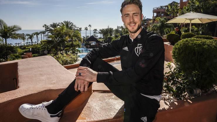 Im August musste er sich einem Eingriff im Gehirn unterziehen, jetzt ist Ricky van Wolfswinkel wieder mit dem FCB im Trainingslager und sichtlich gut gelaunt.