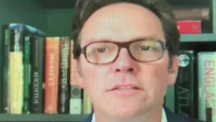 Der designierte Messe-Grossaktionär James Murdoch stellte sich während der Medienkonferenz der MCH Group in einer Videobotschaft voll hinter die Strategie der Messebetreiberin.