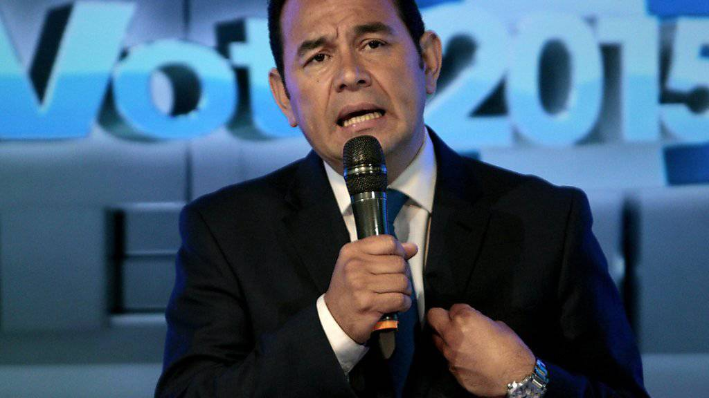 Komiker und Wahlsieger Jimmy Morales verspricht dem Volk, mit der Korruption in der Politik zu brechen.