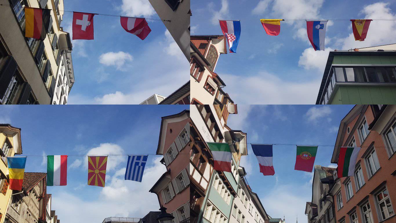 Die Altstätter Strassen empfangen die ausländischen Fasnachtsgäste. (Bild: FM1Today/Noémie Bont)