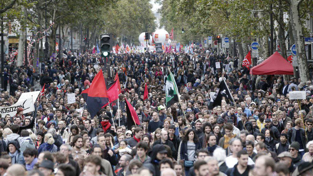 Protestmarsch am Dienstag in Paris.